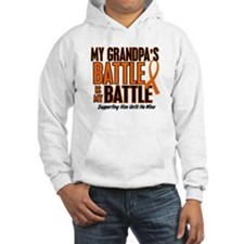 My Battle Too (Grandpa) Orange Hoodie Sweatshirt