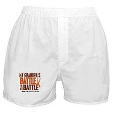 My Battle Too (Grandpa) Orange Boxer Shorts
