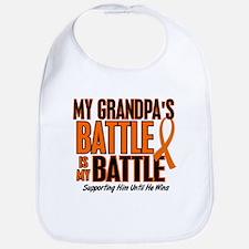 My Battle Too (Grandpa) Orange Bib