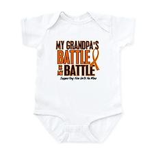 My Battle Too (Grandpa) Orange Infant Bodysuit