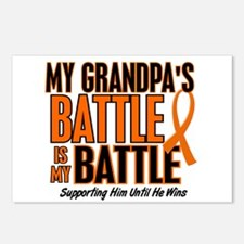 My Battle Too (Grandpa) Orange Postcards (Package
