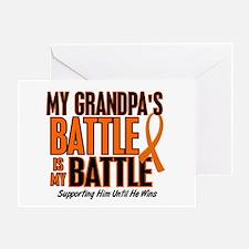 My Battle Too (Grandpa) Orange Greeting Card