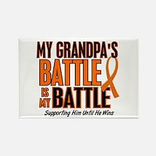 My Battle Too (Grandpa) Orange Rectangle Magnet (1