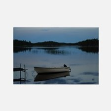 Twilight over the lake Rectangle Magnet