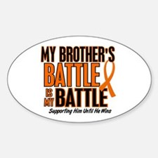 My Battle Too (Brother) Orange Oval Decal