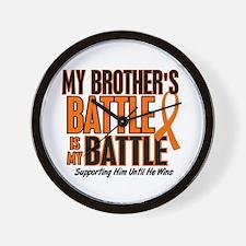 My Battle Too (Brother) Orange Wall Clock