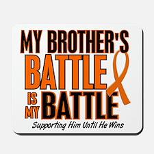 My Battle Too (Brother) Orange Mousepad