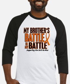 My Battle Too (Brother) Orange Baseball Jersey