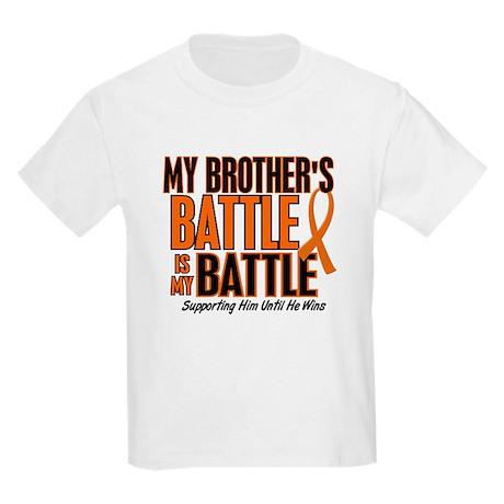 My Battle Too (Brother) Orange Kids Light T-Shirt