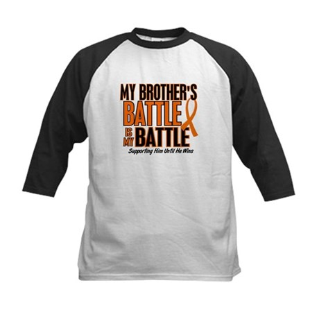 My Battle Too (Brother) Orange Kids Baseball Jerse
