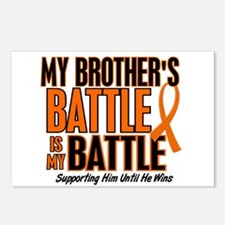 My Battle Too (Brother) Orange Postcards (Package
