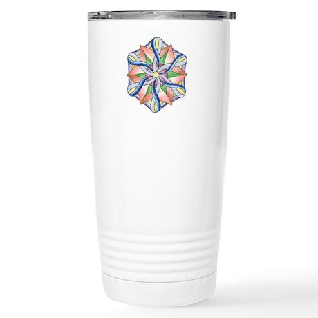 Gratitude Mandala Stainless Steel Travel Mug