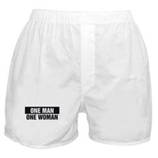 One Man One Woman Boxer Shorts