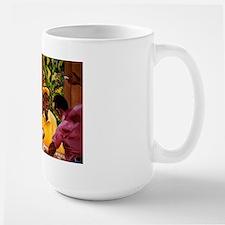 Jamaican Domino Players Large Mug