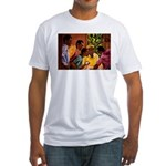 Jamaican Domino Players Fitted T-Shirt