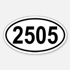 2505 Oval Decal