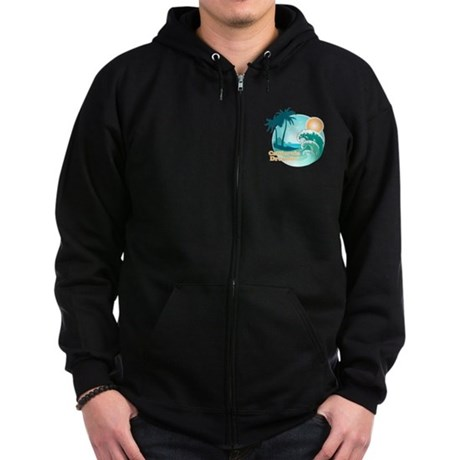 California Dreamin' Zip Hoodie (dark)