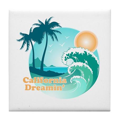 California Dreamin' Tile Coaster