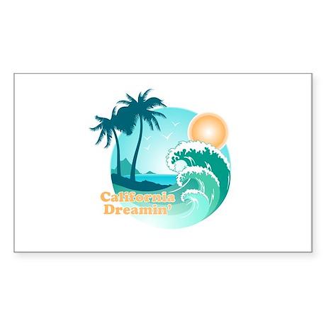 California Dreamin' Rectangle Sticker