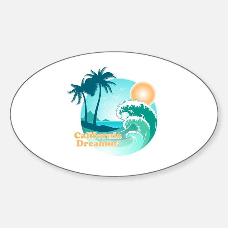 California Dreamin' Oval Decal