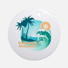 California Dreamin' Ornament (Round)