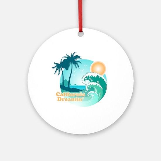 California Dreamin' Ornament (Round)