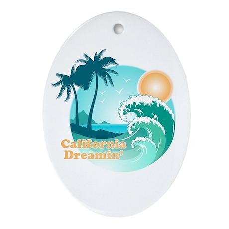 California Dreamin' Oval Ornament