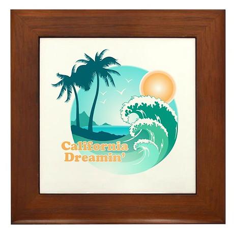 California Dreamin' Framed Tile