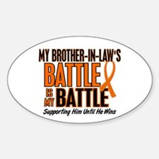 My Battle Too (Brother-In-Law) Orange Decal