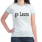 go Laura Jr. Ringer T-Shirt