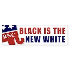 RNC Black is the New White? Bumper Bumper Sticker