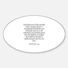 LEVITICUS 19:20 Oval Decal