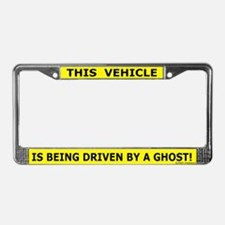 Driven By A Ghost License Plate Frame