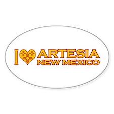 I Love Artesia, NM Oval Sticker