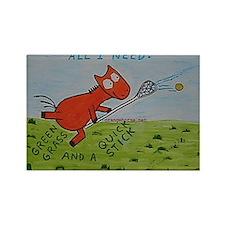 Orange Horse Lacrosse Quick s Rectangle Magnet