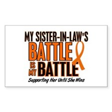 My Battle Too (Sister-In-Law) Orange Decal