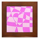 Heart Doodle Framed Tile