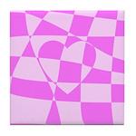 Heart Doodle Tile Coaster