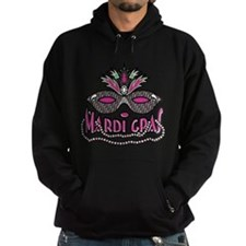 Mardi Gras Mask and Beads Hoodie