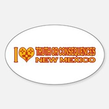 I Love Truth or Consequences, NM Oval Decal