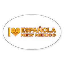 I Love Espanola, NM Oval Sticker