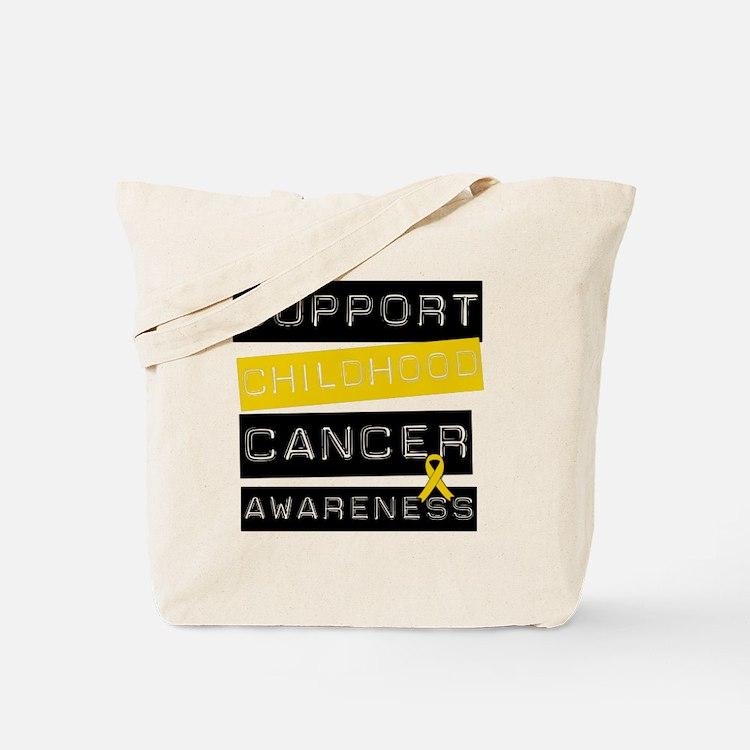 Childhood Cancer Support Tote Bag