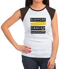 Childhood Cancer Support Women's Cap Sleeve T-Shir
