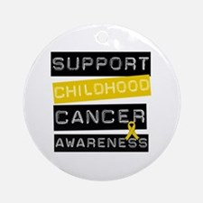 Childhood Cancer Support Ornament (Round)