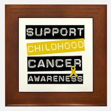 Childhood Cancer Support Framed Tile