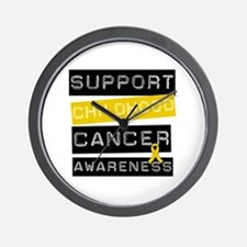 Childhood Cancer Support Wall Clock