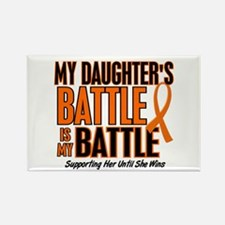 My Battle Too (Daughter) Orange Rectangle Magnet