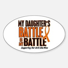 My Battle Too (Daughter) Orange Oval Decal