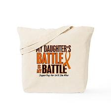 My Battle Too (Daughter) Orange Tote Bag
