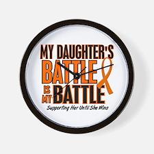 My Battle Too (Daughter) Orange Wall Clock